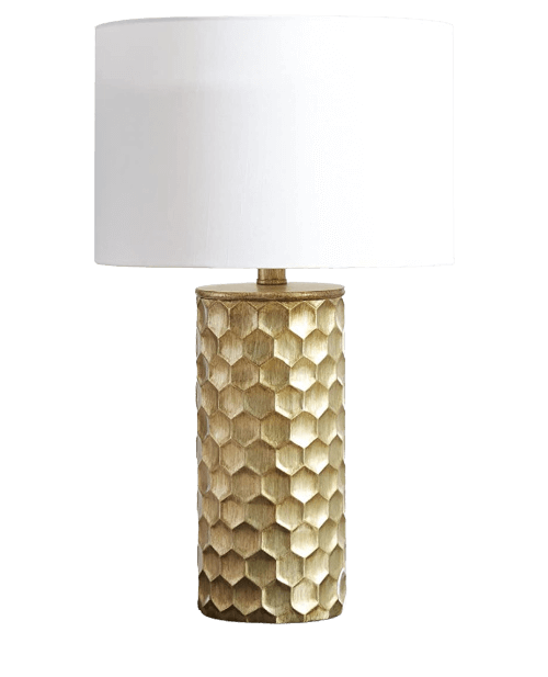 favorite gold table lamp with octagon base
