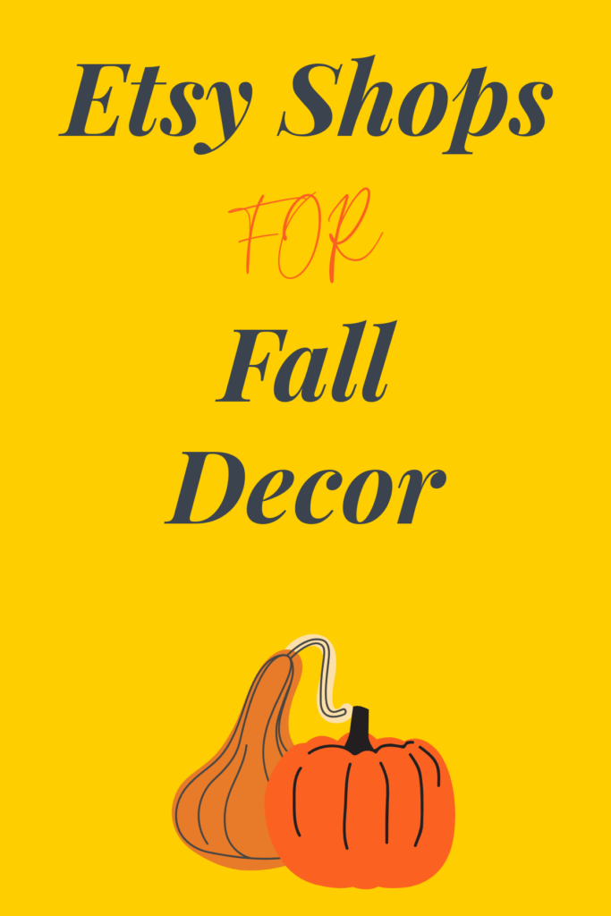 Graphic for my post on fall decor