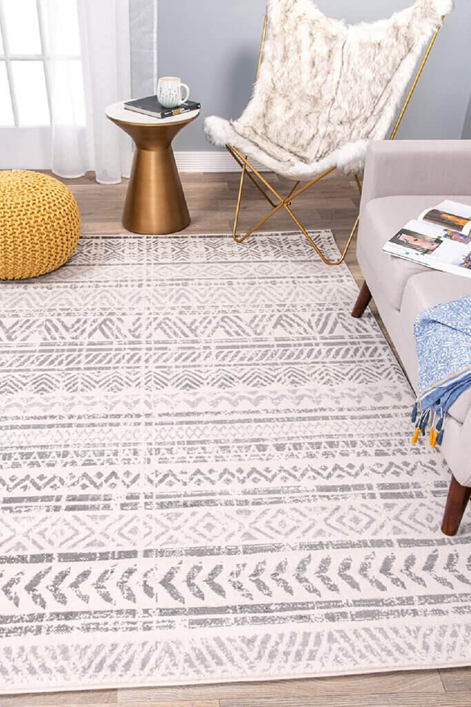 In choosing a rug, I like to go with muted tones