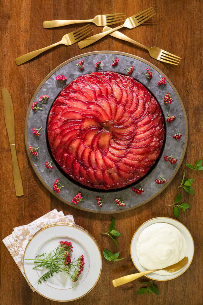 This image has an empty alt attribute; its file name is 1200Upside-Down-Plum-Cake-683x1024.jpg