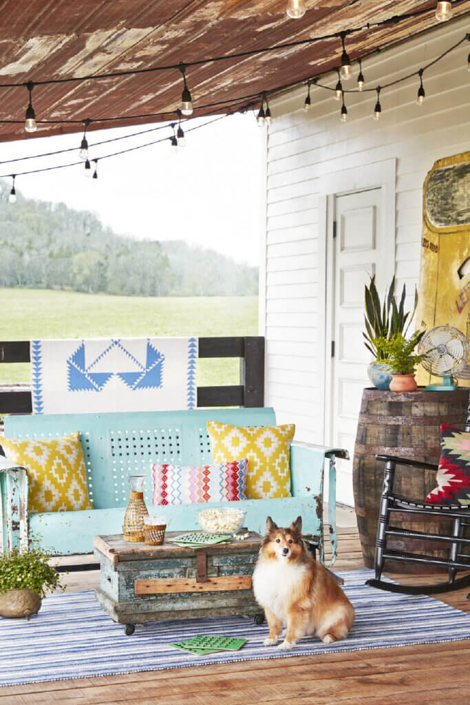 The porch of the home for Chris and Karol Ann DeLong