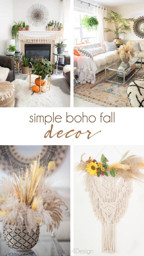 Cuckoo 4 Design has a blog post on decorating for fall in the boho style in new and notable mentions #7