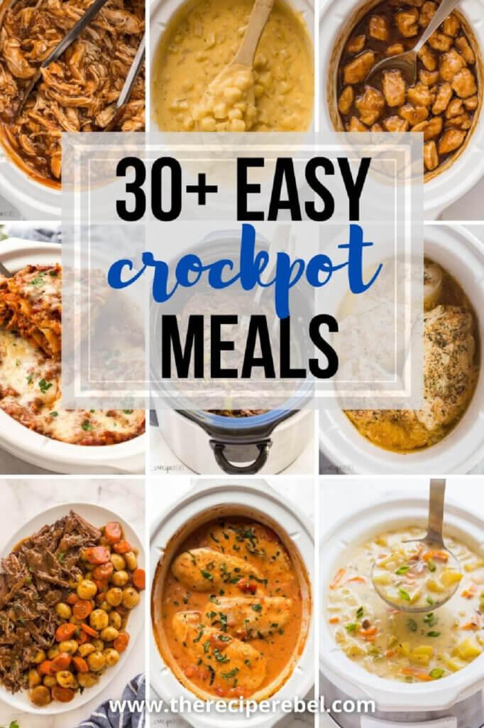 30+ easy crockpot meals by blogger Recipe Rebel
