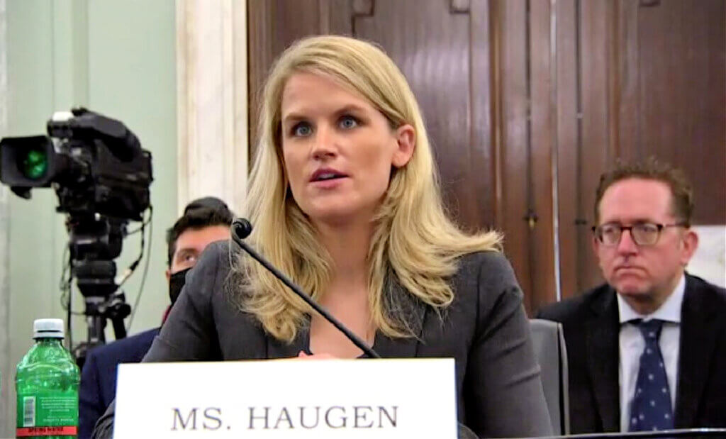 Frances Haugen who testified this week before Congress about Facebook.